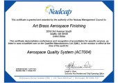 Aerospace Quality Certificate